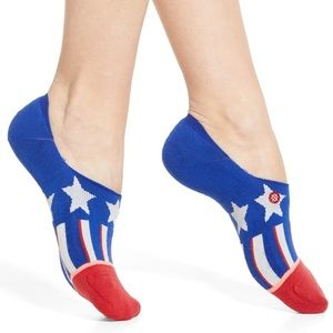 Stance Patriotism No Show Socks NWT
